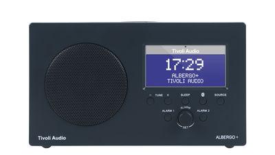 Radio réveil Albergo Enceinte Bluetooth Sans fil Tivoli Audio gris graphite en matière plastique