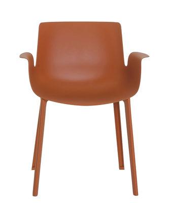 Piuma Sessel / Kunststoff - Kartell - Rostorange