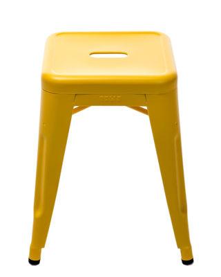Tabouret empilable H / Mate Le Corbusier - Modèle d´expo - Tolix jaune vif en métal