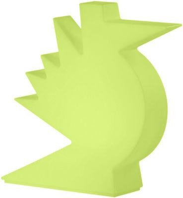 Foto Lampada da tavolo Here - / L 50 x H 50 cm di Slide - Verde - Materiale plastico