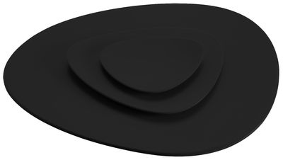 Tableware - Plates - Colombina Placemat by Alessi - Black - Melamine