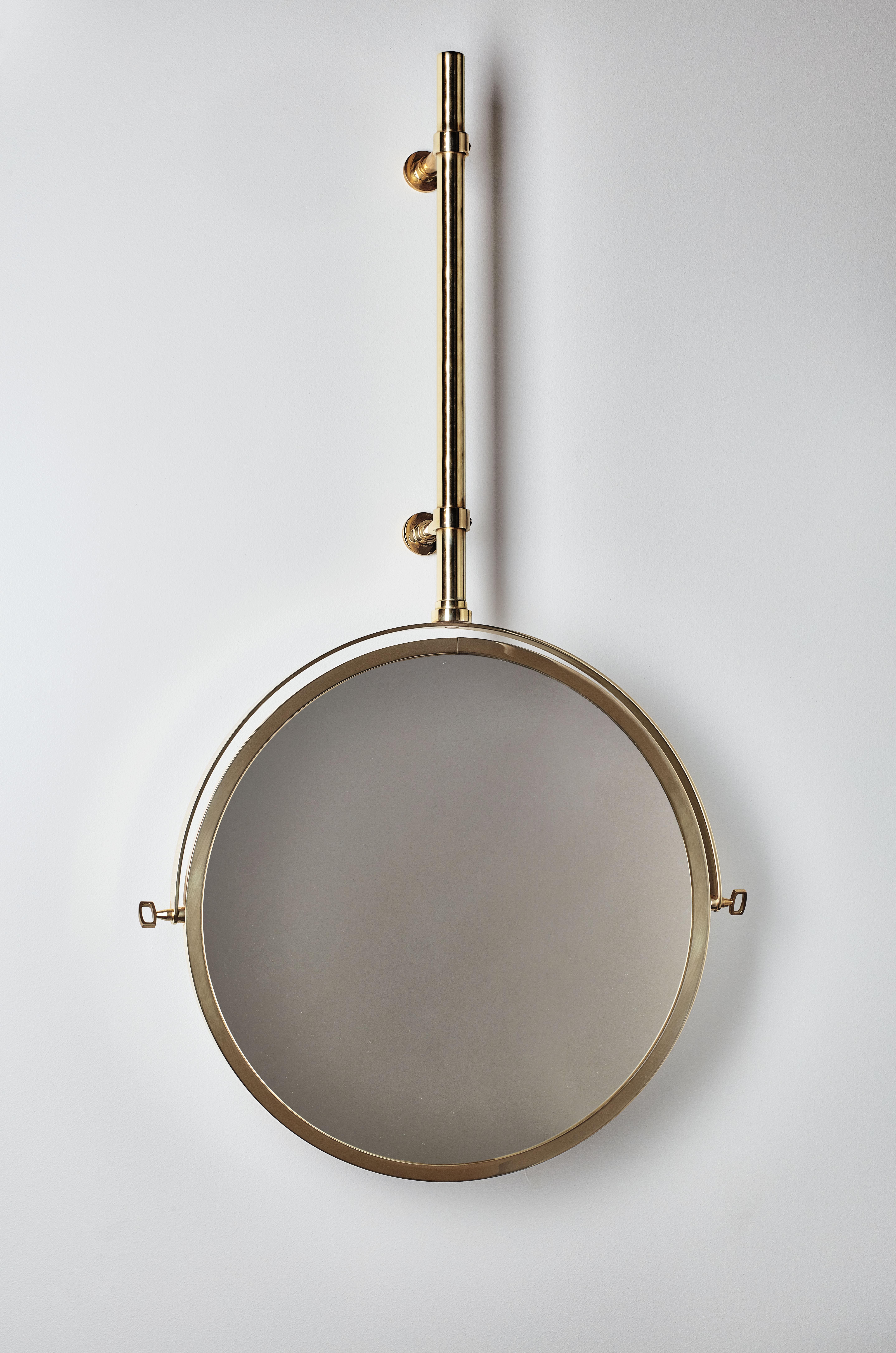 Miroir mural mbe orientable 44 cm laiton dcw ditions for Miroir orientable