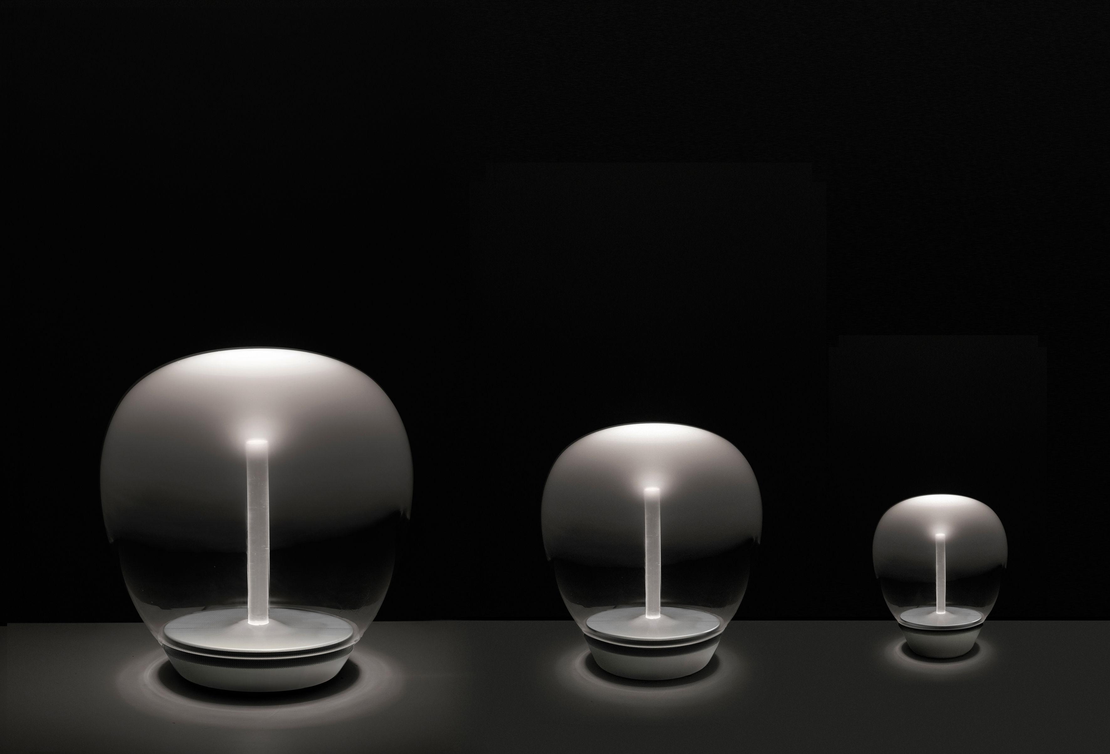 Lampe de table Empatia LED / Ø 26 cm Ø 26 cm / Transparent & blanc ...