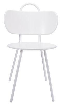 Chaise Swim / Pour l´extérieur - Métal - Bibelo blanc en métal