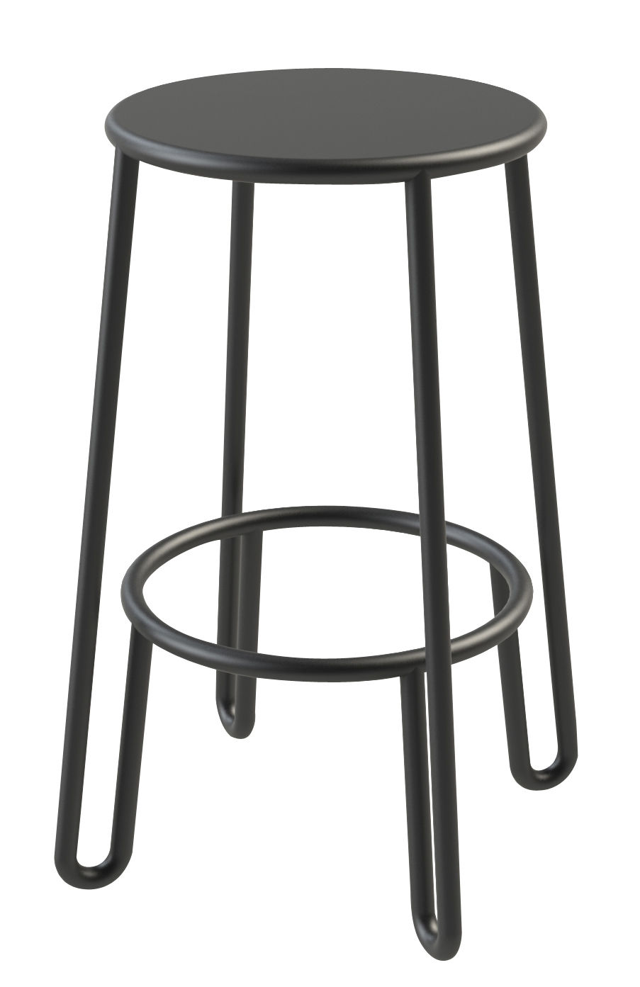 tabouret de bar huggy h 65 cm aluminium carbone maiori made in design. Black Bedroom Furniture Sets. Home Design Ideas