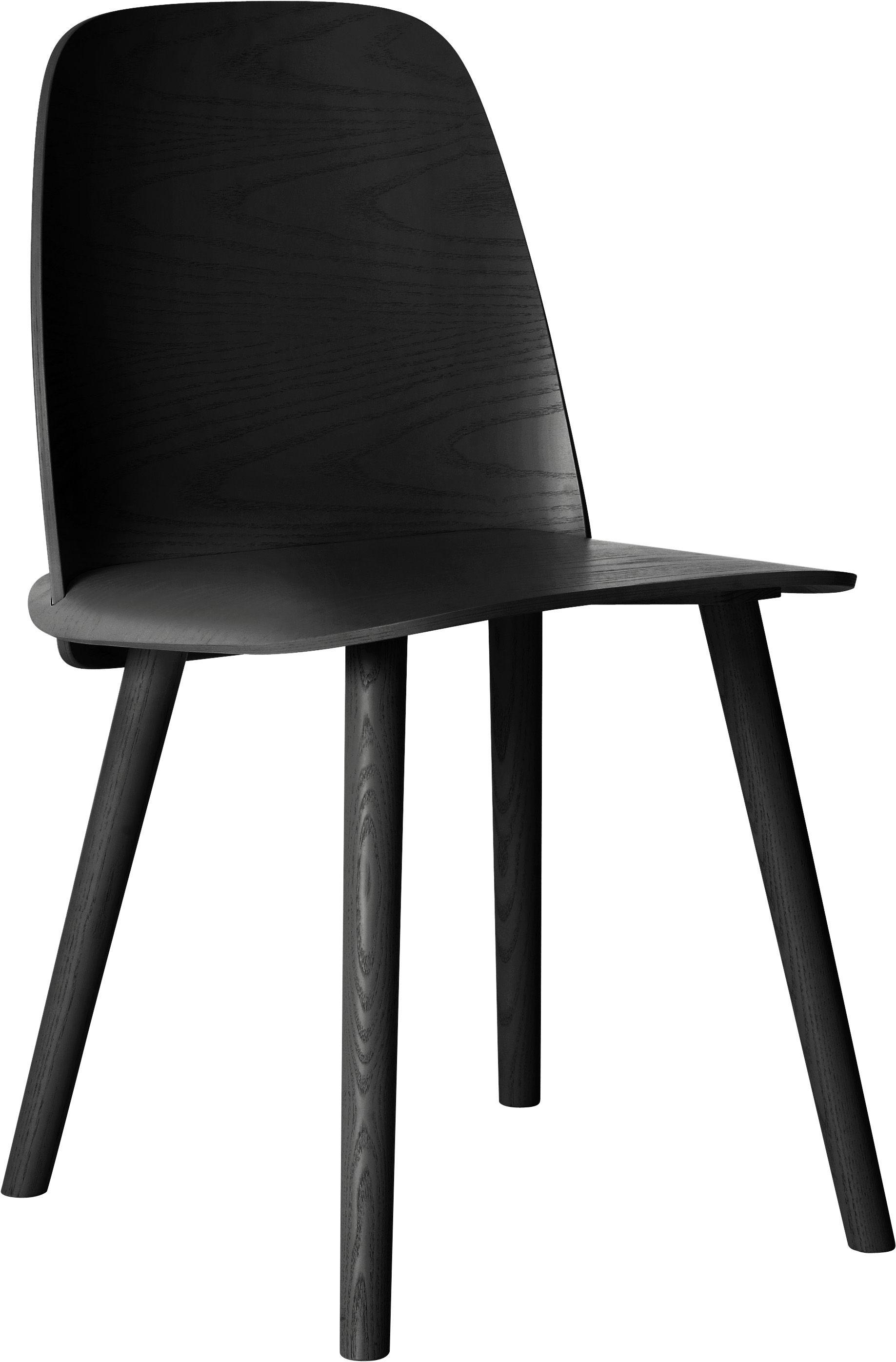 chaise nerd bois noir muuto. Black Bedroom Furniture Sets. Home Design Ideas