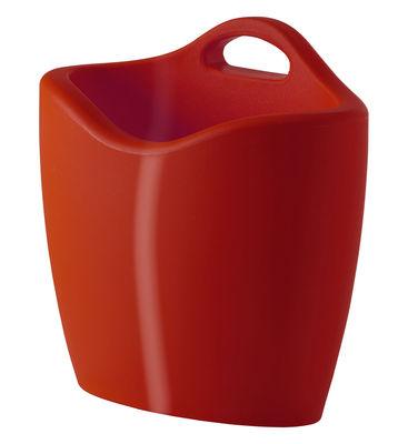 Porte-revues Mag version laquée - Slide laqué rouge en matière plastique