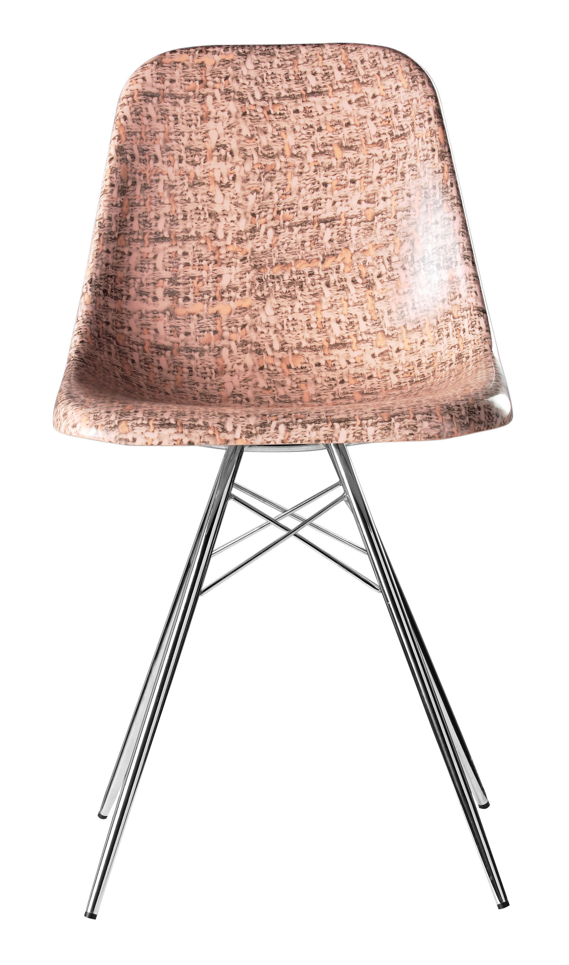 Chaise couture tweed rose xo for Chaise xo starck