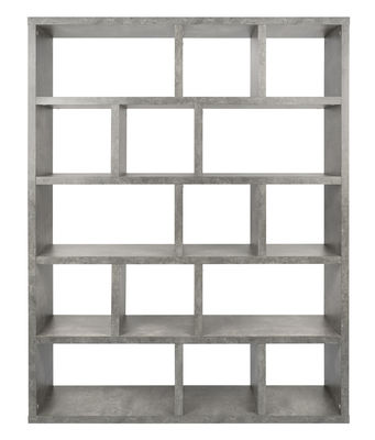 Libreria Rotterdam / L 150 x H 198 cm - Effetto cemento - POP UP HOME - Gris effet béton - Legno