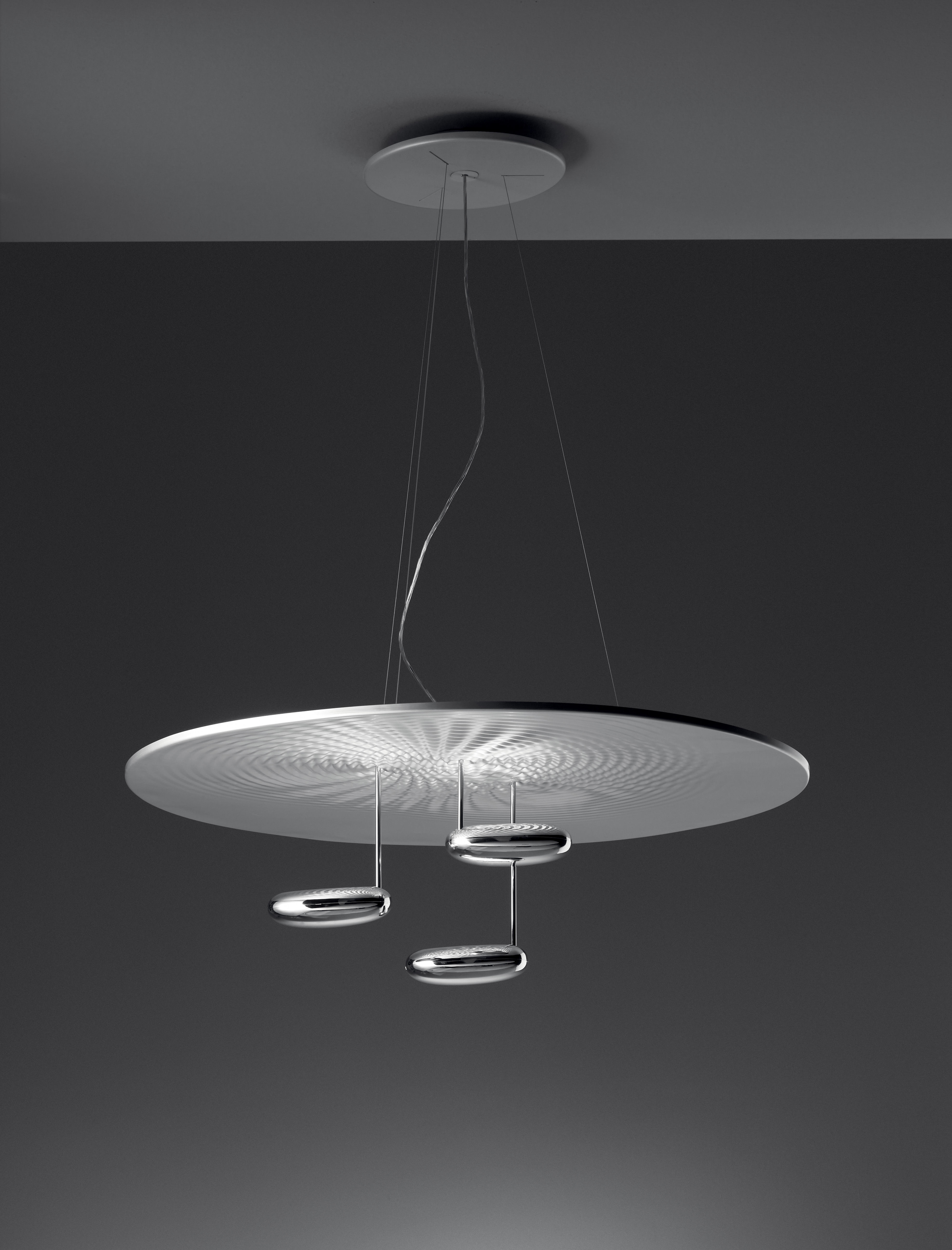 suspension droplet led 100 cm chrom led artemide. Black Bedroom Furniture Sets. Home Design Ideas
