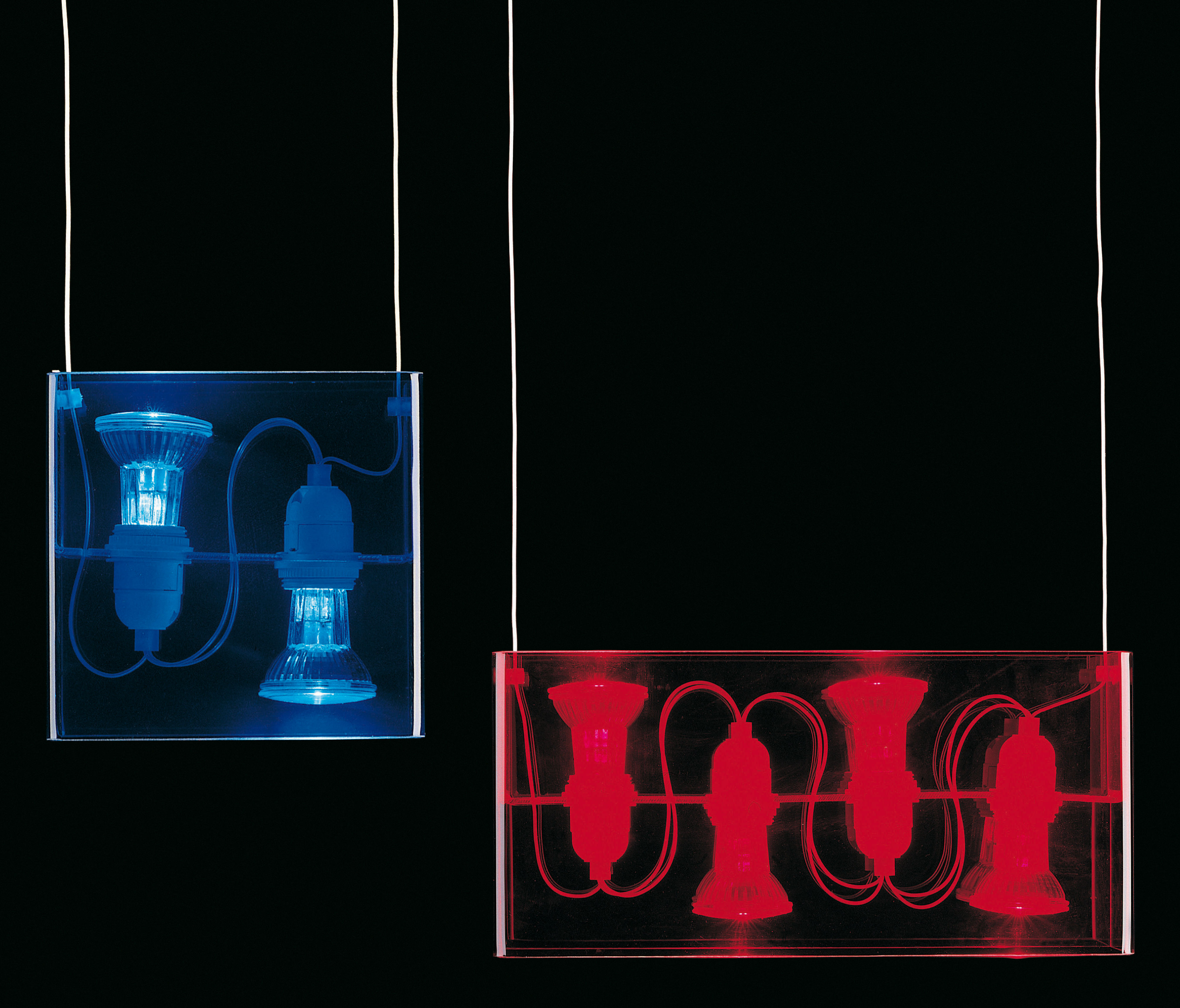 suspension duplex satin e fontana arte. Black Bedroom Furniture Sets. Home Design Ideas