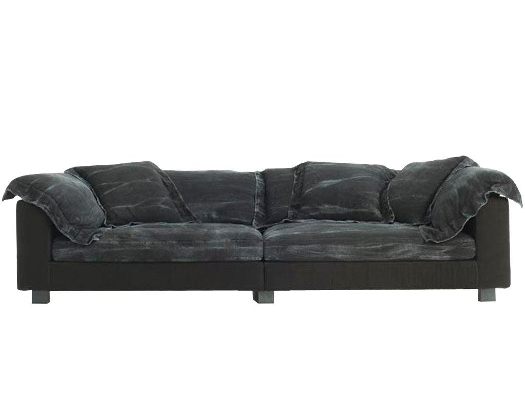 Scopri divano destro nebula nine l 220 cm x prof 140 cm nero seduta prof 140 cm di diesel - Divano diesel moroso ...