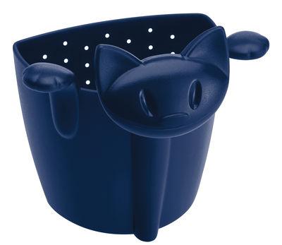 Passoire à thé Miaou - Koziol bleu marine en matière plastique
