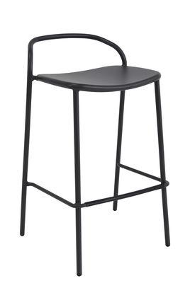 Furniture - Bar Stools - Zahir Bar chair - / H 75 cm - Metal by Emu - Old iron - Varnished steel