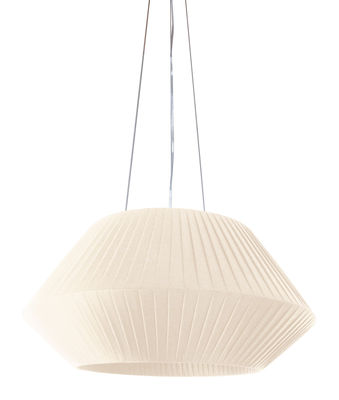 Luminaire - Suspensions - Suspension Ruban Ø 70 cm - Dix Heures Dix - Ivoire - Tissu polyester
