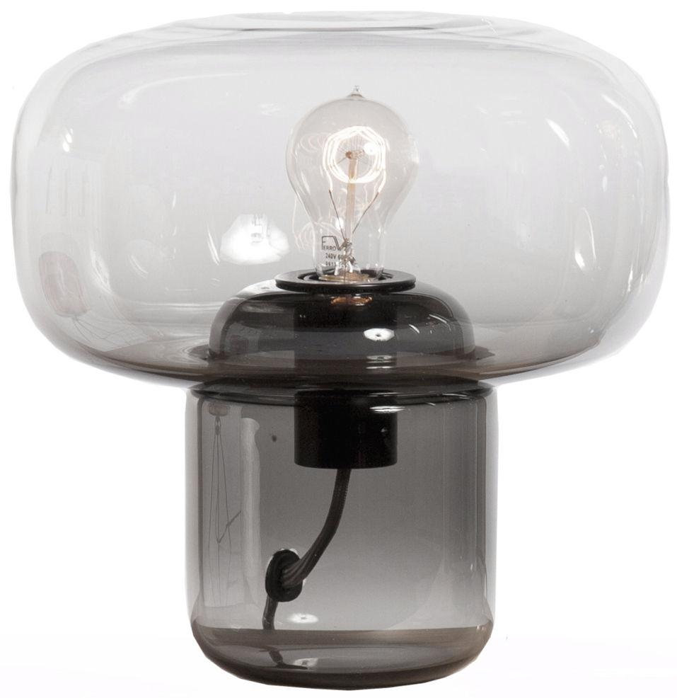 lampe de table sara h 30 cm base gris fum transparent gallery s bensimon. Black Bedroom Furniture Sets. Home Design Ideas