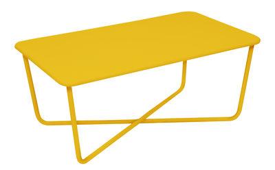 Tavolino basso Croisette / 97 x 57 cm - Metallo - Fermob - Miele - Metallo