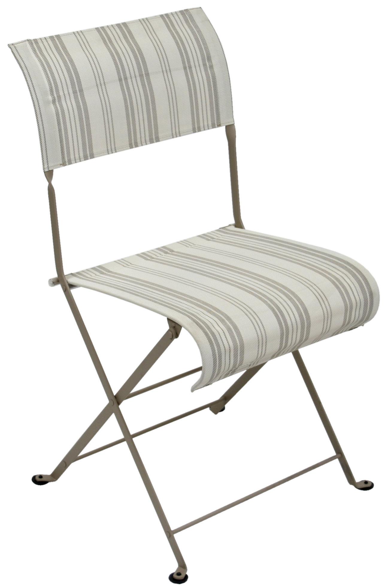 chaise pliante dune toile toile matelas fermob. Black Bedroom Furniture Sets. Home Design Ideas