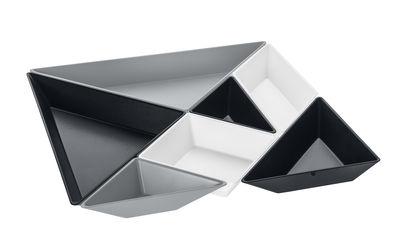 Set apéritif Tangram Ready / 7 coupelles - Koziol gris en matière plastique