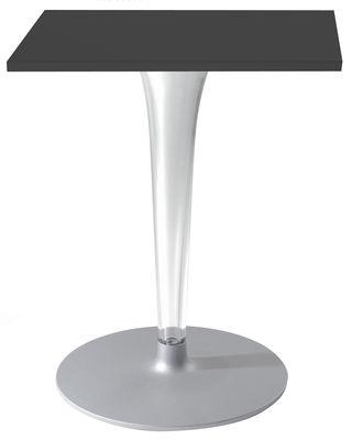 Table de jardin Top Top - Contract outdoor / 70 x 70 cm - Kartell noir en matière plastique
