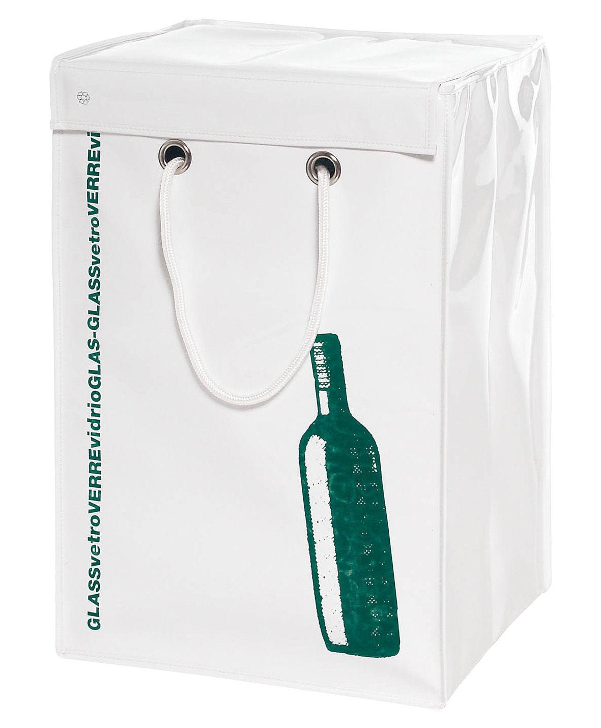 poubelle de tri recyclage verre verre blanc motif vert seletti. Black Bedroom Furniture Sets. Home Design Ideas