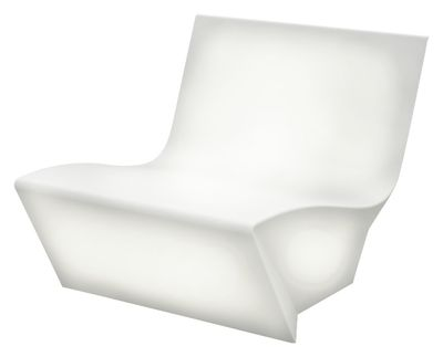 Poltrona luminosa Kami Ichi Outdoor - versione luminosa di Slide - Bianco - Materiale plastico