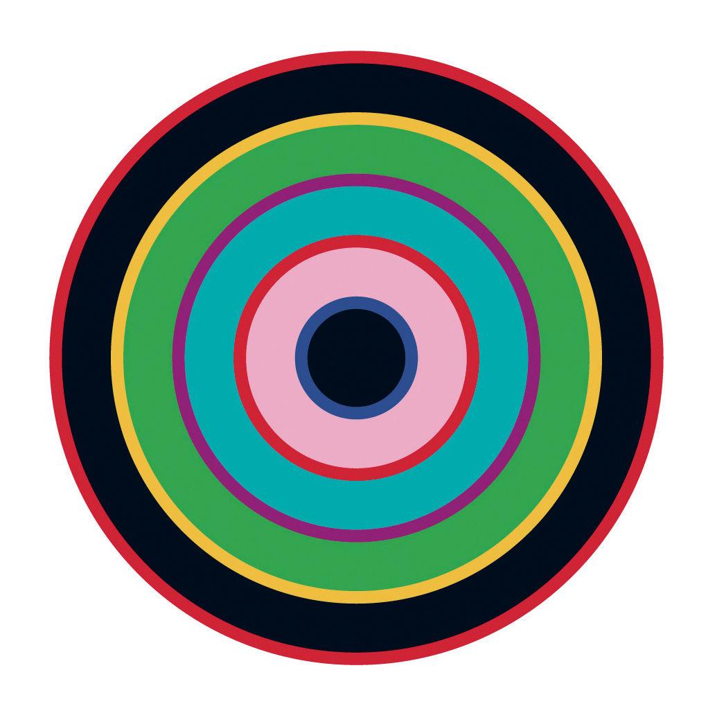 sticker target 1 bleu vert noir domestic made in design. Black Bedroom Furniture Sets. Home Design Ideas