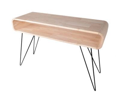 Console metro sofa bureau l h cm bois naturel pied