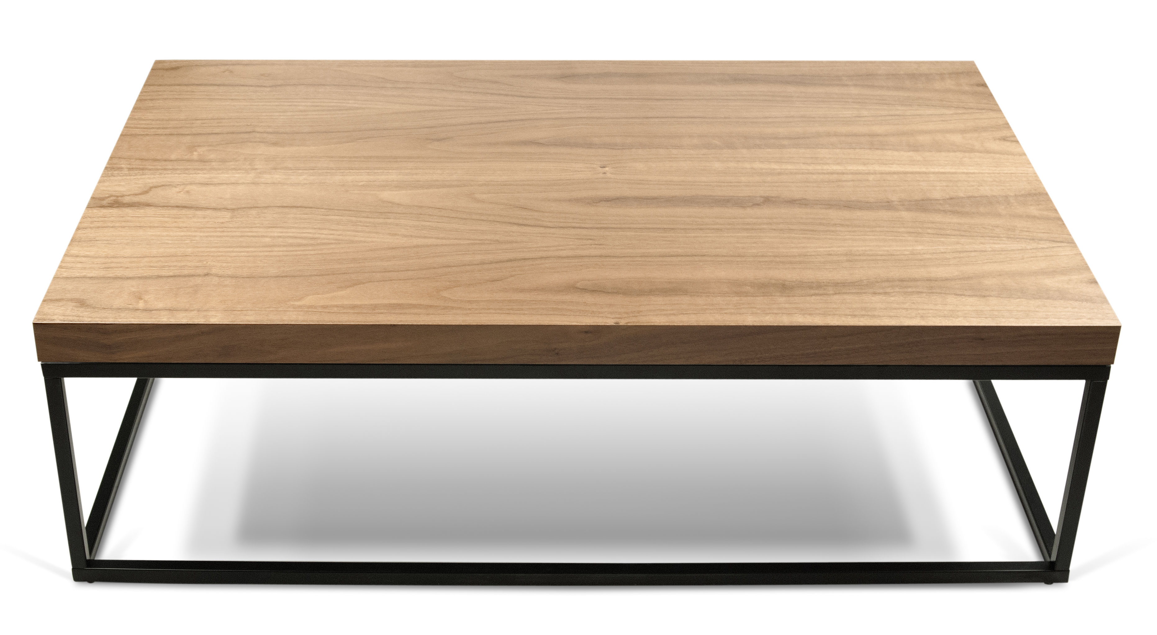 wallnut coffee table walnut walnut black leg by pop