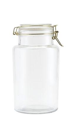 Bocal hermétique Vario 2,1 L Ø 13 x H 24 cm House Doctor or,transparent en verre
