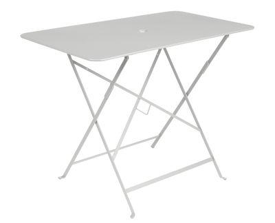 Foto Tavolo pieghevole Bistro / 97 x 57 cm - 4 persone - Foro per ombrellone - Fermob - Grigio metallo - Metallo