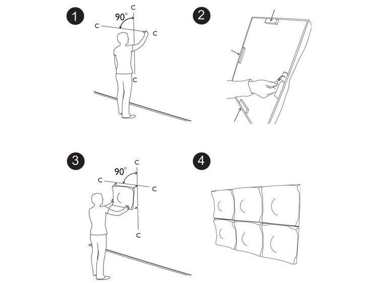 panneau acoustique mural soundwave swell blanc offecct. Black Bedroom Furniture Sets. Home Design Ideas