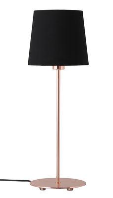amalie tischleuchte kupfer lampenschirm schwarz by frandsen made in design. Black Bedroom Furniture Sets. Home Design Ideas