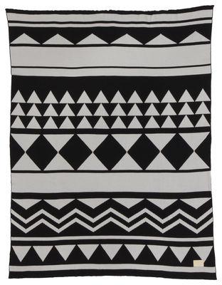 Plaid Inka / 120 x 150 cm - Ferm Living gris,noir en tissu