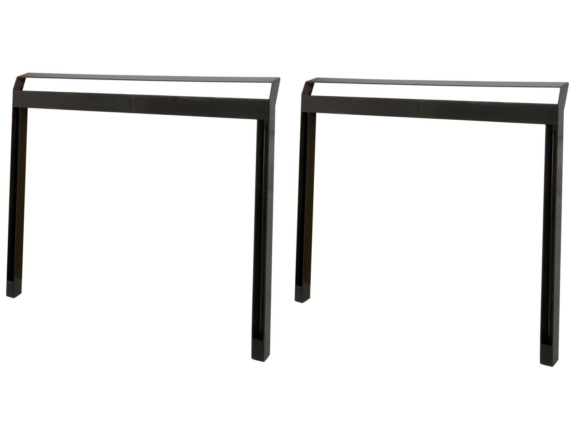 paire de tr teaux pi int rieur ext rieur noir semi brillant int rieur ext rieur. Black Bedroom Furniture Sets. Home Design Ideas