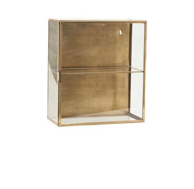 Rangement mural Cabinet Small / Vitrine - L 35 x H 40 cm - House Doctor transparent,laiton en métal