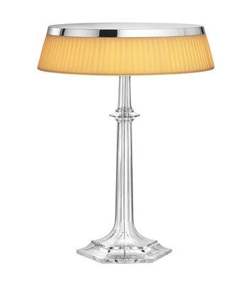 Lampe de table Bon Jour Versailles Large / LED - H 42 cm Chromé ...