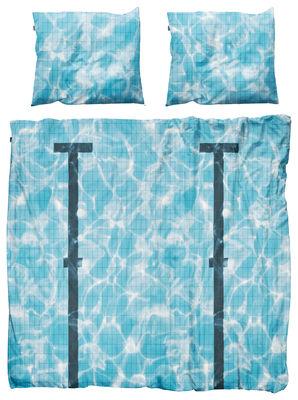 Foto Parure da letto 2 persone Pool - / 2 persone - 240 x 220 cm di Snurk - Blu - Tessuto