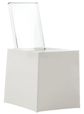 Chaise Miss Less / Plastique - Dossier transparent - Kartell blanc,cristal en matière plastique