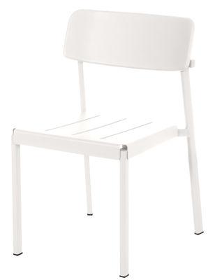 Mobilier - Chaises, fauteuils de salle à manger - Chaise empilable Shine / Métal - Emu - Blanc - Aluminium verni