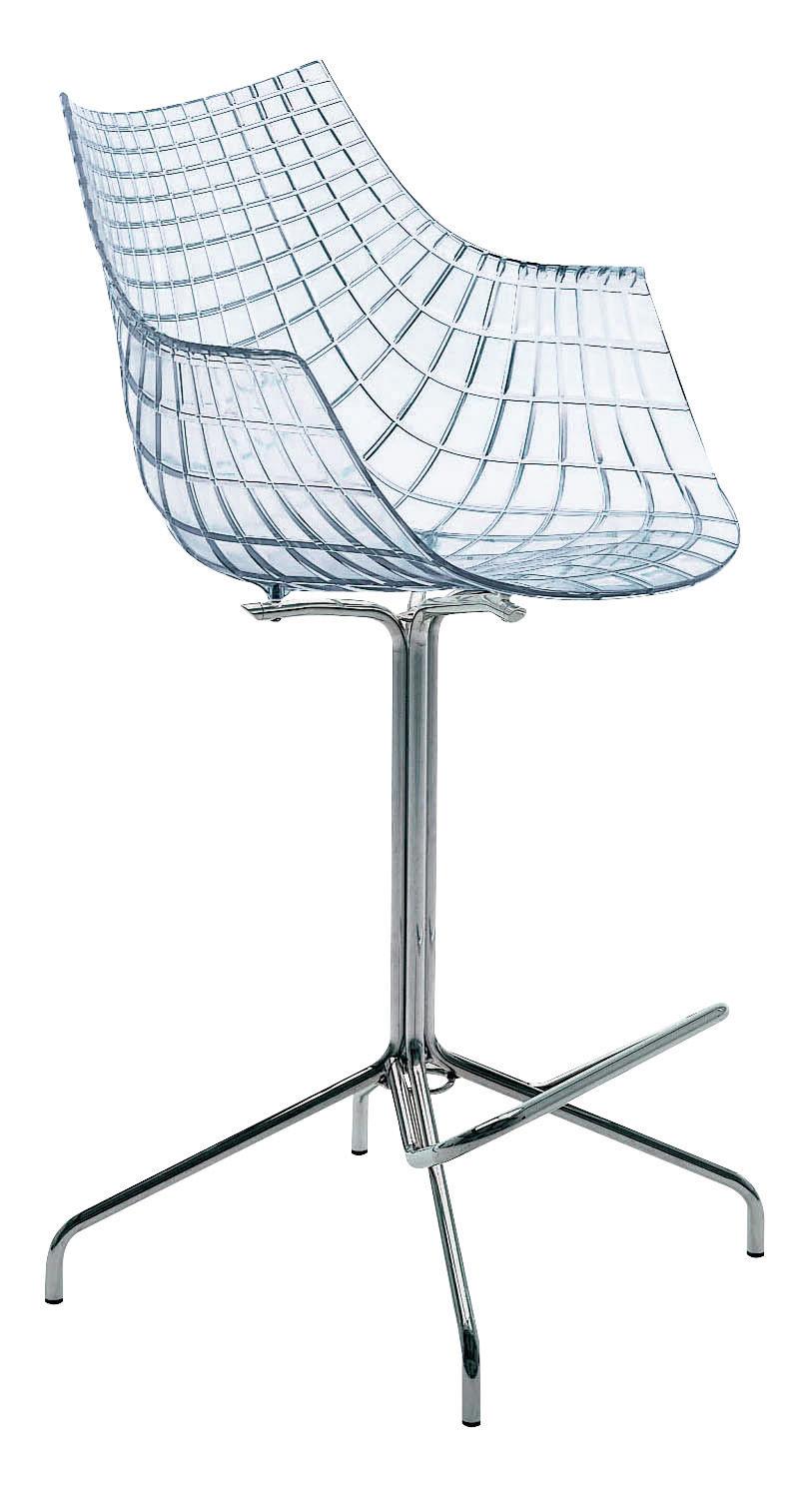 Chaise de bar meridiana h 65 cm polycarbonate for Chaise 65 cm design