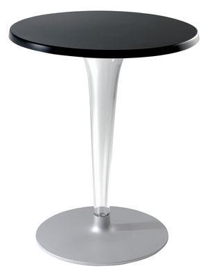 Table Top Top / Laminé - Ø 70 cm - Kartell noir en matière plastique