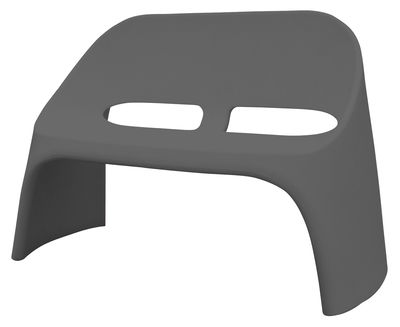 Foto Panca Amélie - 2 posti di Slide - Grigio - Materiale plastico Panca con schienale