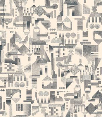 Papier peint Utopia Ascending / 1 rouleau - larg 52 cm - Petite Friture crème en papier