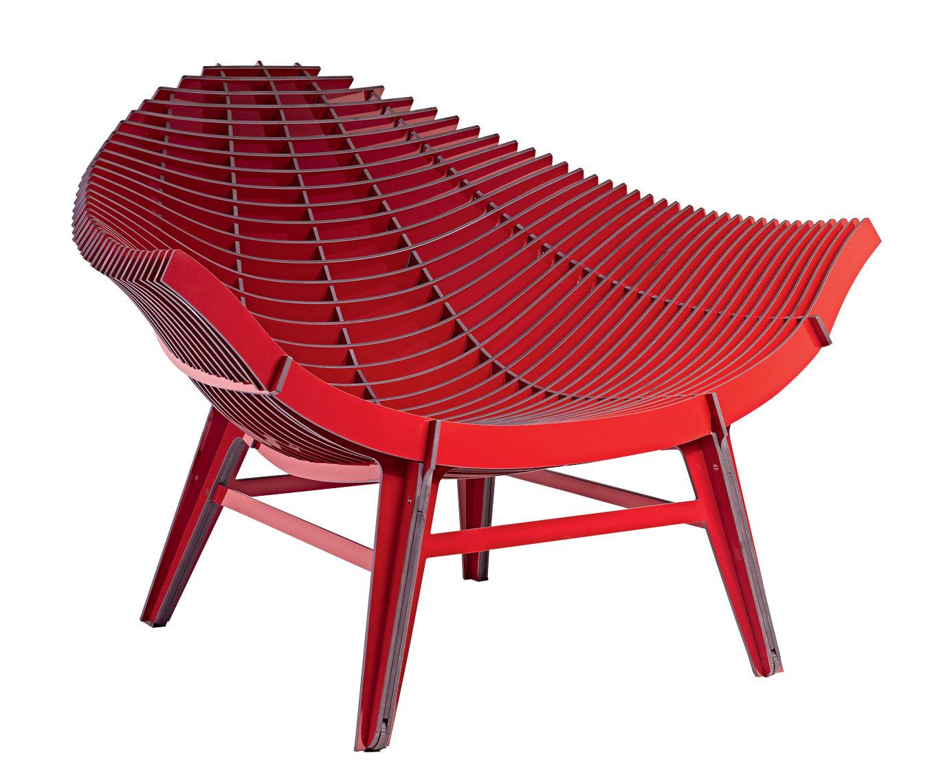 fauteuil bas manta stratifi int rieur ext rieur rouge ibride. Black Bedroom Furniture Sets. Home Design Ideas