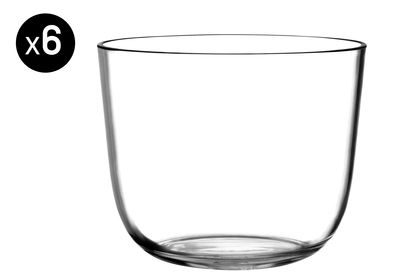 Arts de la table - Verres  - Verre Tonic Small / Verrine - 29 cl - Lot de 6 - Italesse - Transparent - Verre