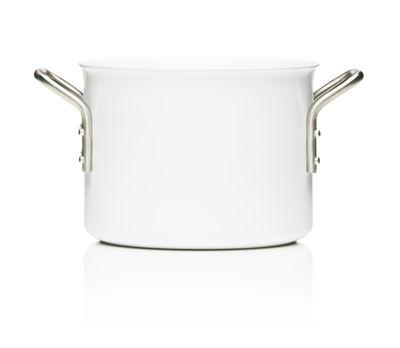 Cuisine - Casseroles, poêles, plats... - Casserole White Line / 2,5L - Eva Trio - 2,5L - Blanc - Acier inoxydable, Aluminium, Céramique