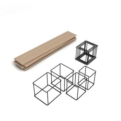 biblioth que quake modulable l 166 x h 130 cm modules noirs etag res ch ne enostudio. Black Bedroom Furniture Sets. Home Design Ideas