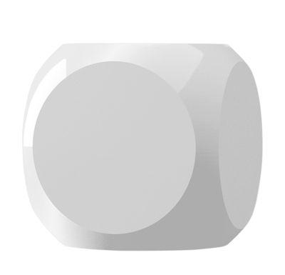 Bougie parfumée Dice / Kartell Fragrances - H 7,5 cm - Kartell blanc en matière plastique
