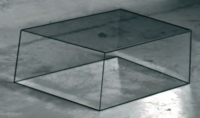 Table basse Wireframe 60 x 57 cm - Glas Italia noir,transparent en verre